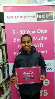 John at Genie Tutors King's Heath works very hard with his tutor and deserves his Star Reward! Congratulations John!
