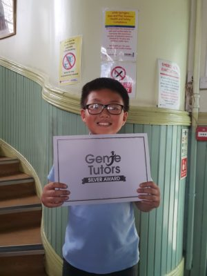 Congratulations to Heng for his achievement at Genie Tutors Edgbaston. You work hard every week with your tutor and you deserve your reward. Keep up the good work!