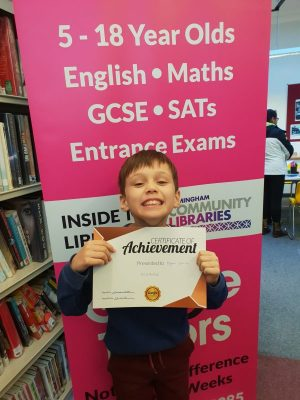 Congratulations to Dylan on his first reward at Genie Tutors Kings Heath!