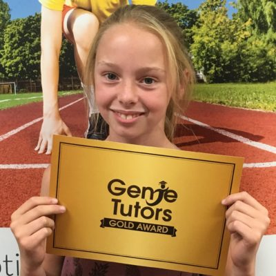 Congratulations to Chloe at Genie Tutors Reditch who is working so hard towards her 11+ exam. You got your gold award because you work so hard!