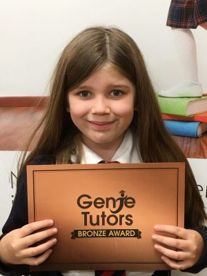 Congratulations to Imogen for achieving her Bronze award by progressing so much in both English and maths. 👍