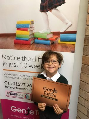 Congratulations to Zayn for achieving Bronze by working really hard with his tutor Liz at Genie Tutors Bromsgrove!