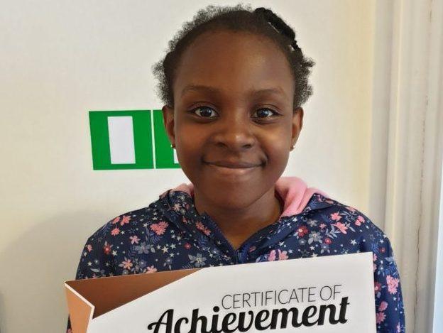 Congratulations to Christabel on her Bronze Reward. Great work with her tutors at Genie Tutors Edgbaston! Well done!