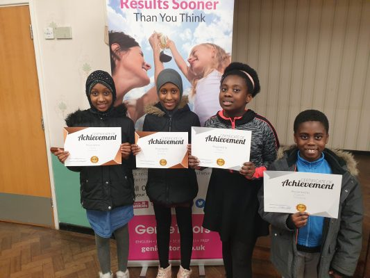 Congratulations to Isata, Diana, Eugene and Hassanatu on their Rewards! You worked very hard with your tutors at Genie Tutors Harborne and your achievement is very deserved! Keep up the good progress!
