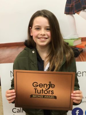 Georgia working hard at Genie Tutors Bromsgrove