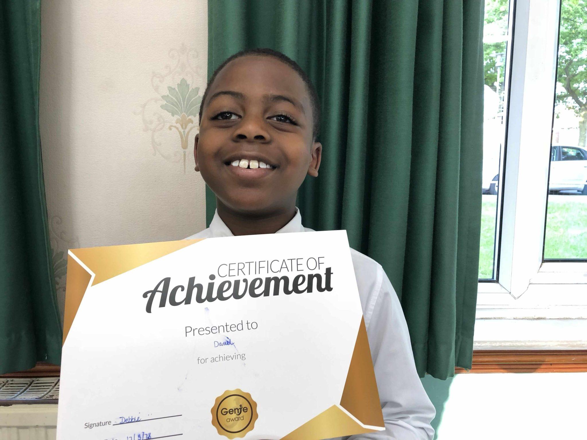 Daniel achieving progress at Genie Tutors King's Heath