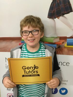 Congratulations to Sam at Genie Tutors Bromsgrove for achieving the Gold Award. You work very hard and deserve this accolade. Keep up the super progress.
