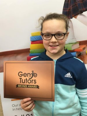 Ruby has made a super effort at her Bromsgrove tuition centre